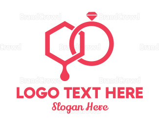 Ring - Bride & Groom Wedding Rings logo design