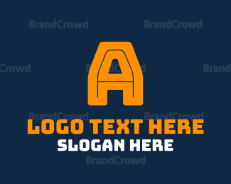 Basketball Team - Bold Yellow Letter A logo design