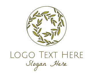 Olive - Green Olives Circle logo design