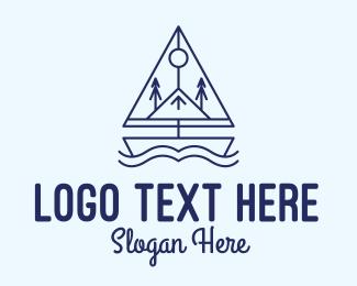 Voyage - Vikings Sailing Boat logo design