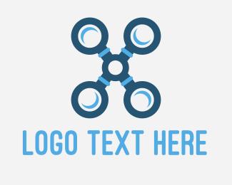 Uav - X Drone logo design