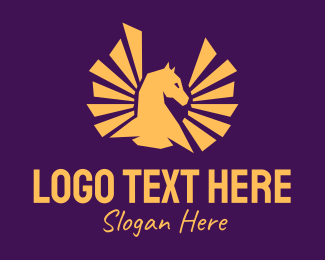 Stud - Golden Pegasus logo design