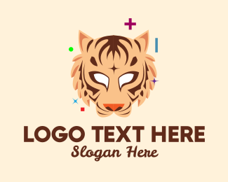 Lunar New Year - Tiger Mascot Character  logo design