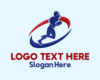American Football Player Logo