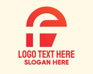 Modern - Red Modern Letter F logo design