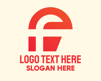 Letter F - Red Modern Letter F logo design