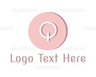 Cupcake - Modern Pink Q logo design