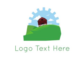 Farming - Gear Farm logo design