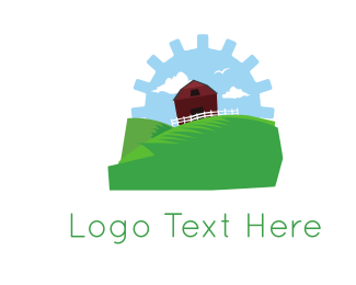 Machine - Gear Farm logo design