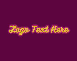 Disco Bar - Glowing Fashion Wordmark logo design