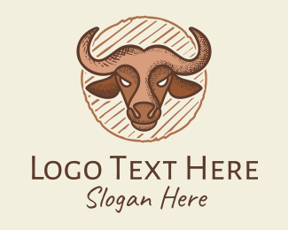 Bullfight - Ox Steak House logo design