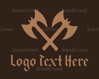 Aggressive - Bat Axe logo design