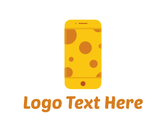 Cell Phone - Cheese Phone logo design