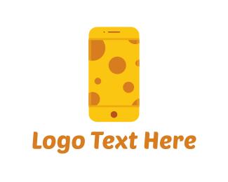 Telephone - Cheese Phone logo design