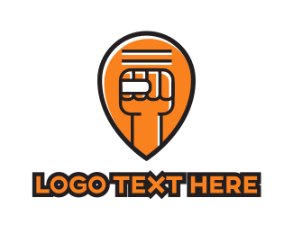 Gesture - Fist Pin logo design