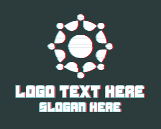 Fortnite - Abstract Radial Glitch logo design