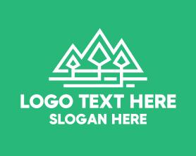 Hiking - Geometric Pine Tree Park logo design