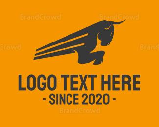 Aggressive - Fast Bull logo design