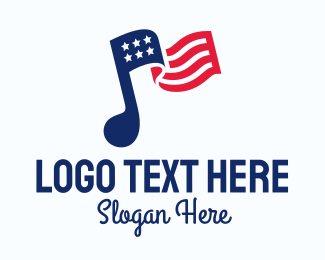 Marching Band - American Musical Note logo design