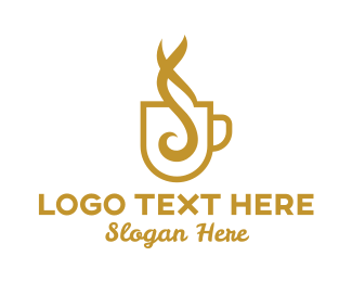 Hot - Hot Gold Coffee logo design