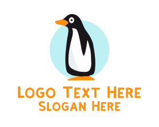 Blizzard - Cute Penguin logo design