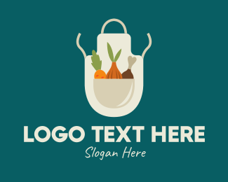 Chopping - Vegetable Chef Apron logo design