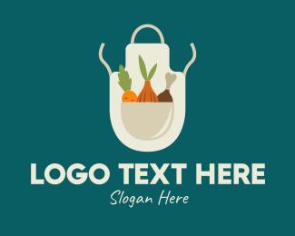 Produce - Vegetable Chef Apron logo design