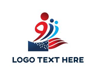 Flag - Patriotic People logo design