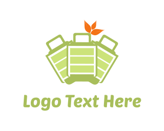 Traveler - Green Bags logo design