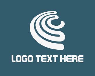 Loop - White Spin logo design