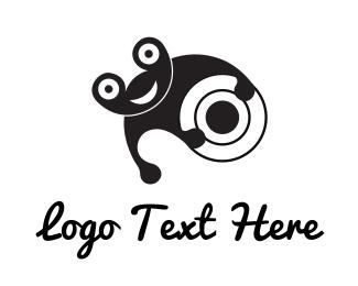 Frog - Cheerful Black Frog logo design