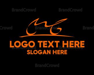 Bicycle - Motor Grand logo design