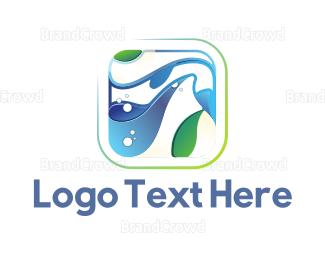 Aquarium - Seaweed & Waves logo design