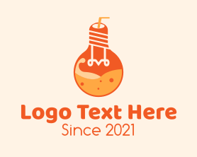 Light - Light Bulb Juice logo design