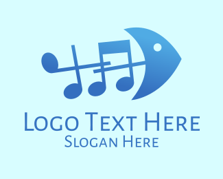 Melody - Music Fish logo design