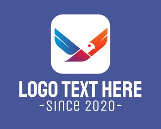 Logistic - Colorful Flying Bird App logo design