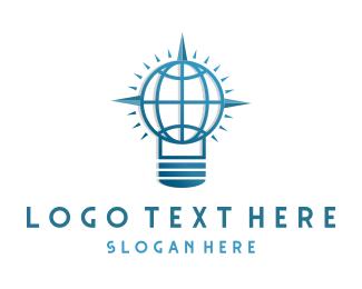International -  Global Compass Idea logo design