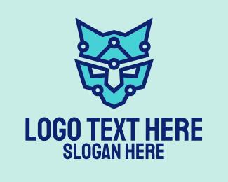 Digital Printing - Digital Blue Panther logo design