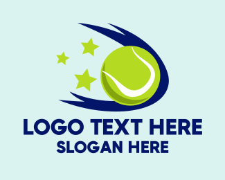 Tennis Coach - Tennis Ball Stars logo design