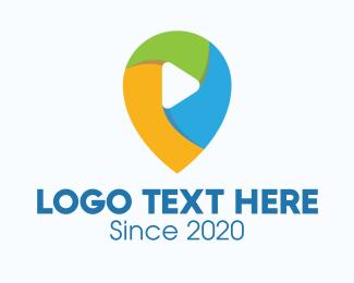 Navigate - Multicolor Media Player Location logo design