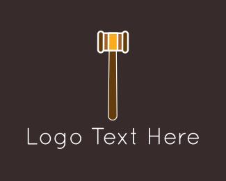 Court - Brown Gavel logo design