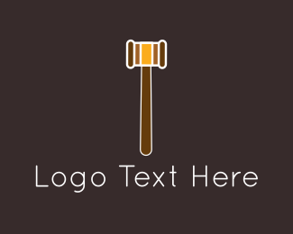 Attorney And Legal Brown Gavel logo design