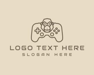 Fortnite - Monoline Gaming Gorilla logo design