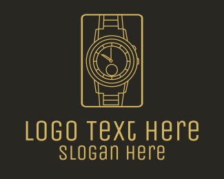 Watchmaker - Gold Classic Wristwatch  logo design