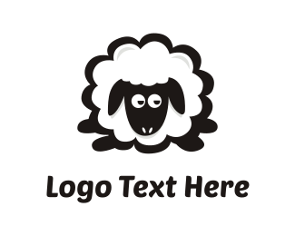Shepherd - Sheep Cartoon logo design