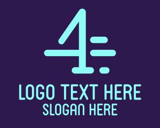 Digit - Fast Number 4 logo design