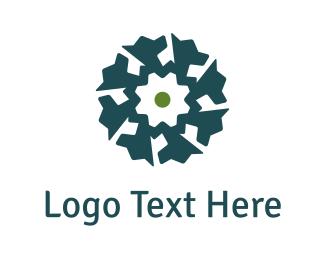 Gear - Dog Flower logo design