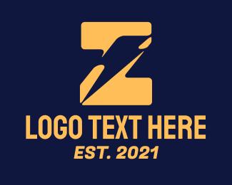 Letter Z - Thunder Letter Z logo design
