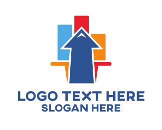 Marketing - Colorful Marketing Arrow logo design