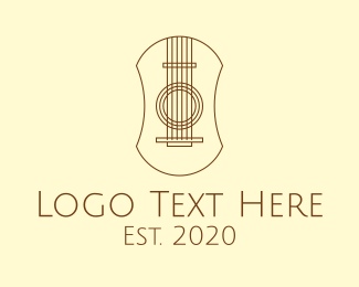 String Instrument - Elegant Guitar Strings logo design